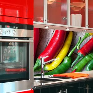 dynamische 3D Küchenrückwand